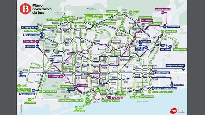 Les Ultimes 5 Noves Linies Completen La Xarxa Ortogonal D Autobus