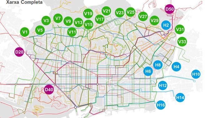 Mapa Final De La Xarxa De Busos De Barcelona Consulta Les